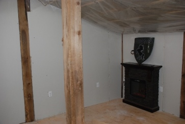 Tack room in progress - Fireplace